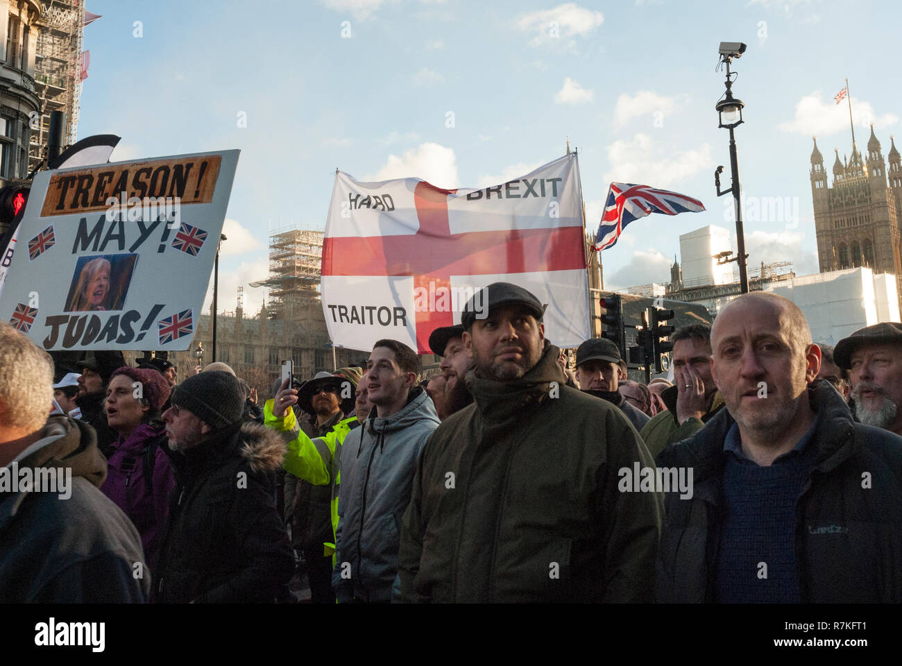 Pro Brexit Rally, London UK, organised by UKIP with far right ...