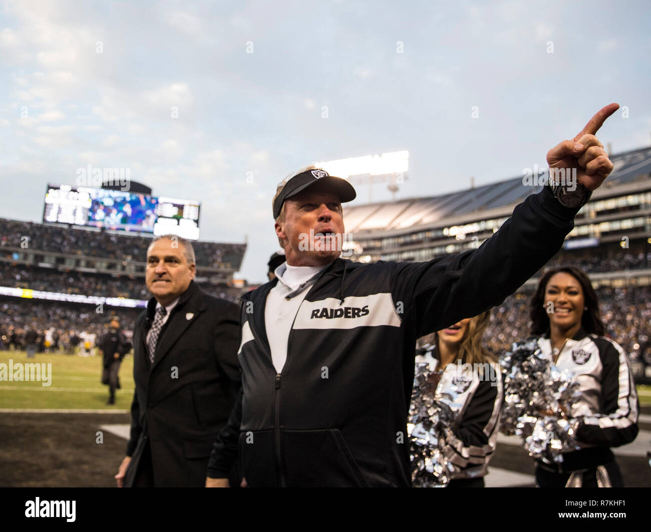 42294e9de7b Dec 09 2018 Oakland U.S.A CA Oakland Raiders head coach Jon Gruden  celebrate a huge win