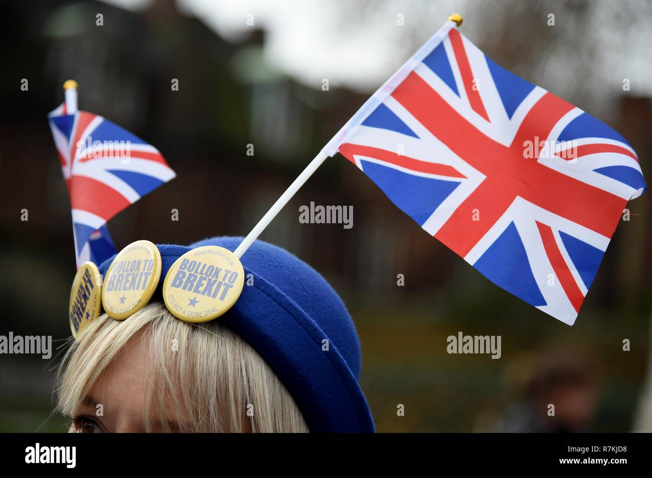 Stop Brexit protester, Westminster, London Credit: Finnbarr Webster/Alamy Live News Stock Photo
