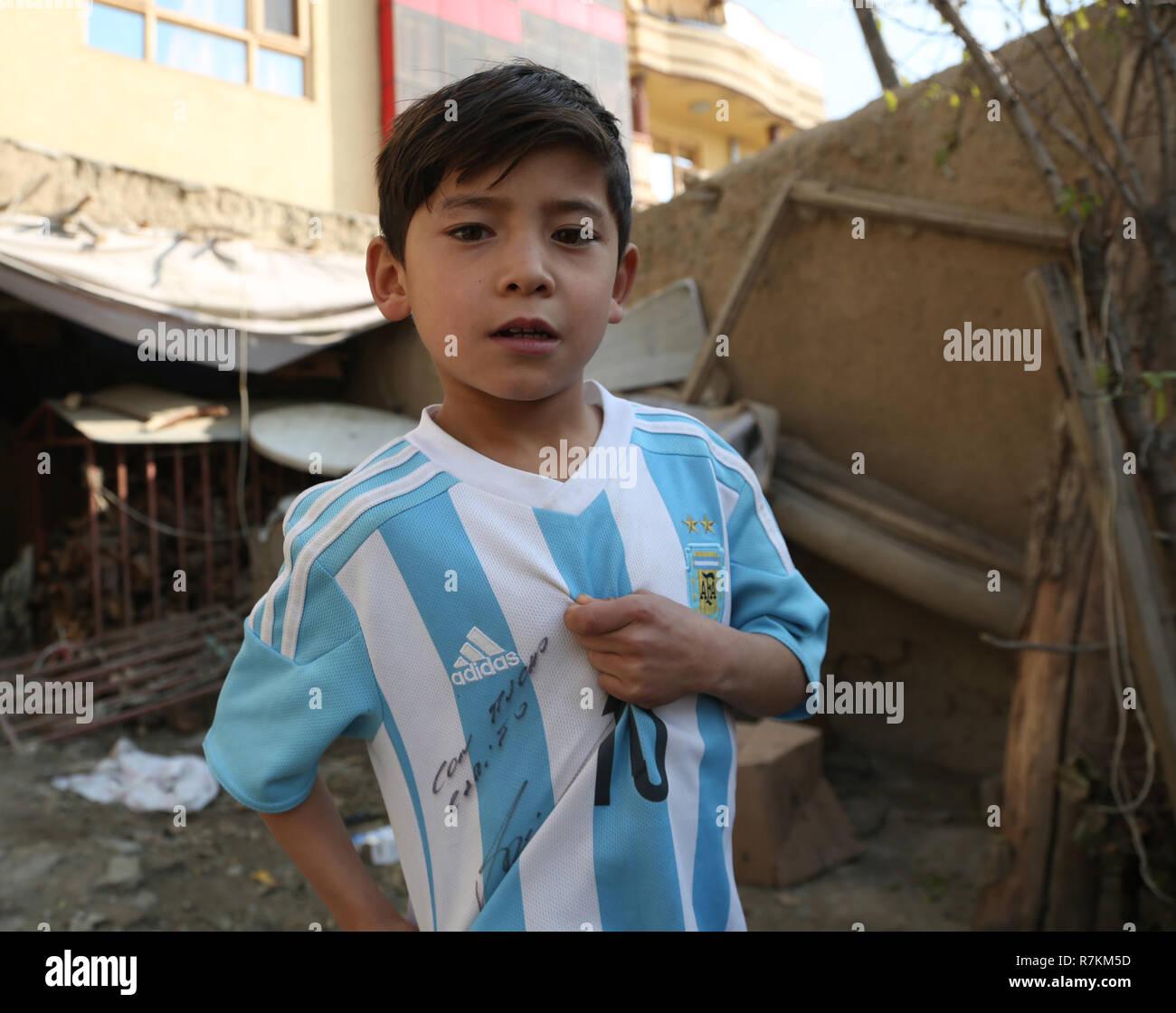super popular 9ce7d 43336 Kabul, Afghanistan. 8th Dec, 2018. Afghanistan little Messi ...