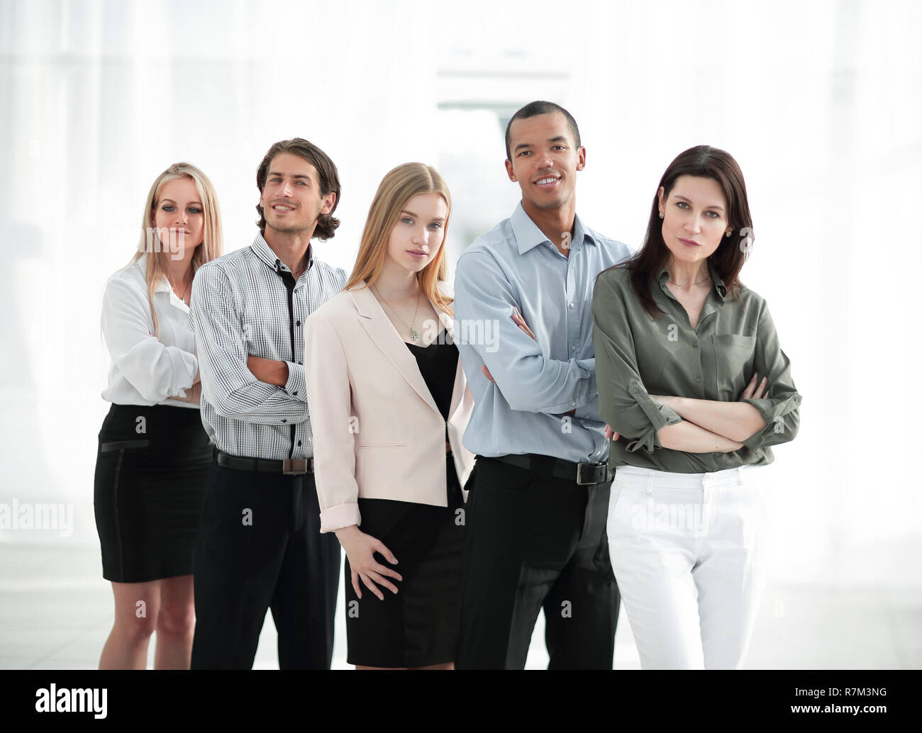 successful multinational business team.the concept of teamwork - Stock Image
