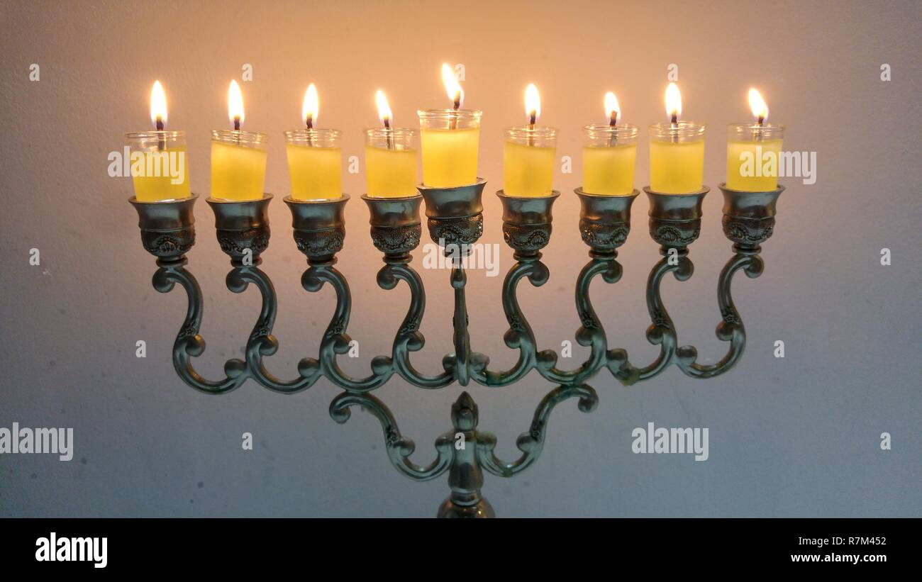 7-branch Brass Menorah , Free Transparent Clipart - ClipartKey