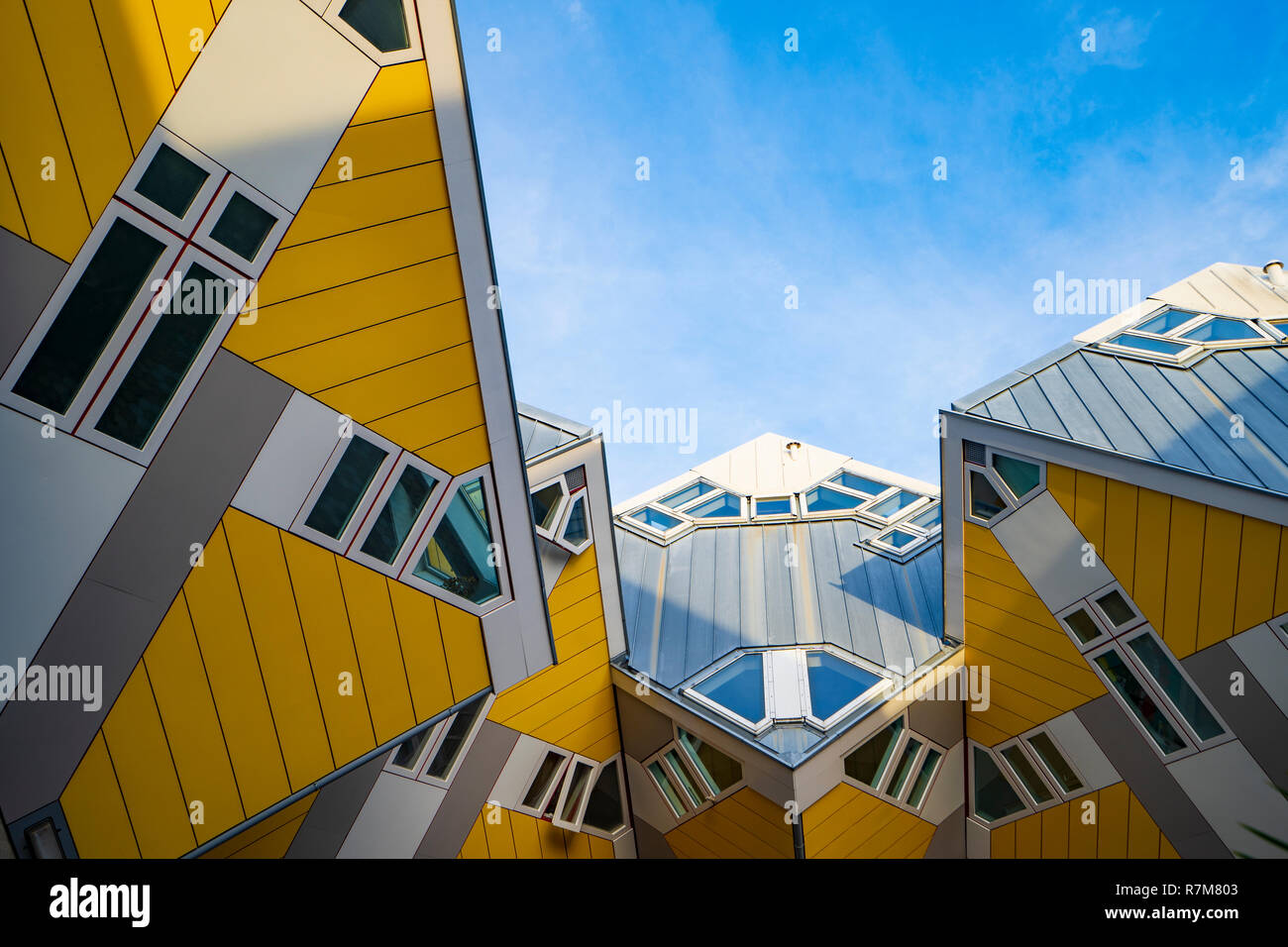 Exterior of Cube Houses in Rotterdam The Netherlands - Stock Image
