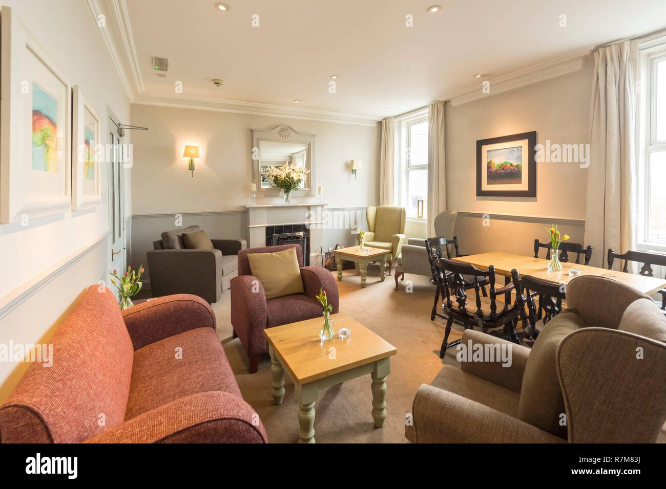 United Kingdom, Scotland, North Ayrshire, Arran island, , Lamlash, Hotel Glenisle - Stock Image