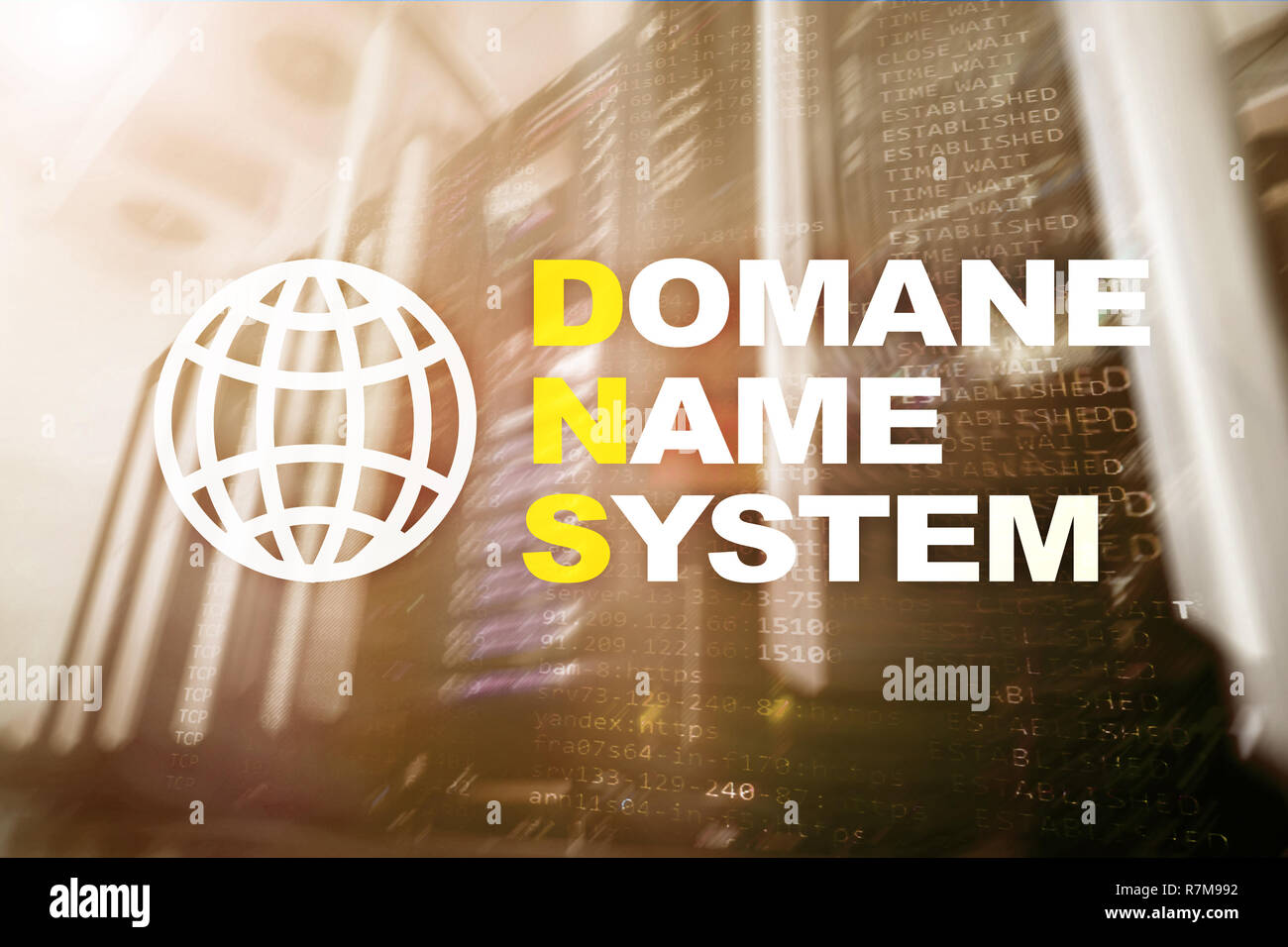 Internet Connection Word Diagram Concept Stock Photos Dns Domain Name System Server And Protocol Digital Technology On