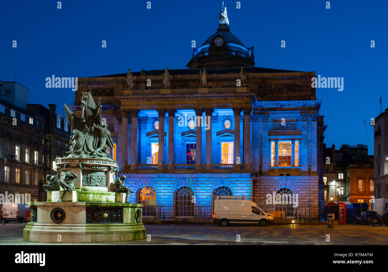 Liverpool Town Hall, the rear of the building, from Exchange Flags. Image taken in December 2018. - Stock Image