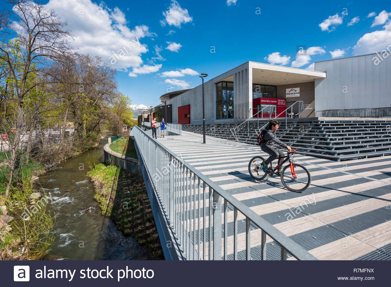 France, Hautes-Alpes, Gap, departmental capital, Alp'Arena hockey arena, former Brown-Ferrand Ice Rink - Stock Image