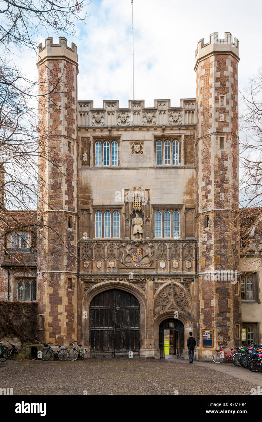 The Great Gate of Trinity College, Cambridge. - Stock Image