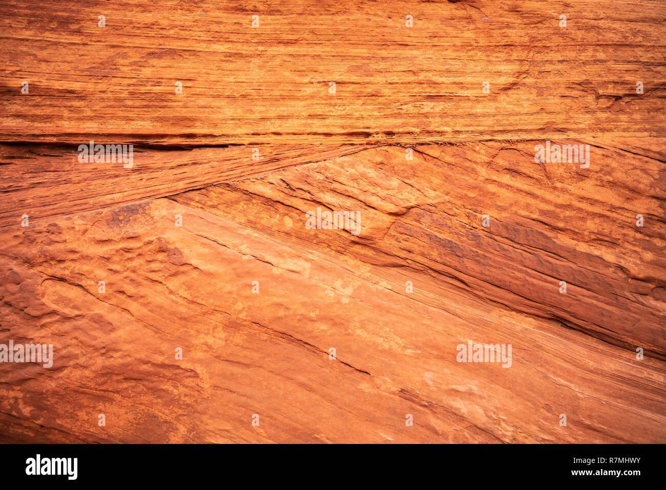 Waterhole Canyon - a slot canyon caused by flash flooding, cutting through the red Navajo sandstone rocks near Page, Arizona, USA Stock Photo