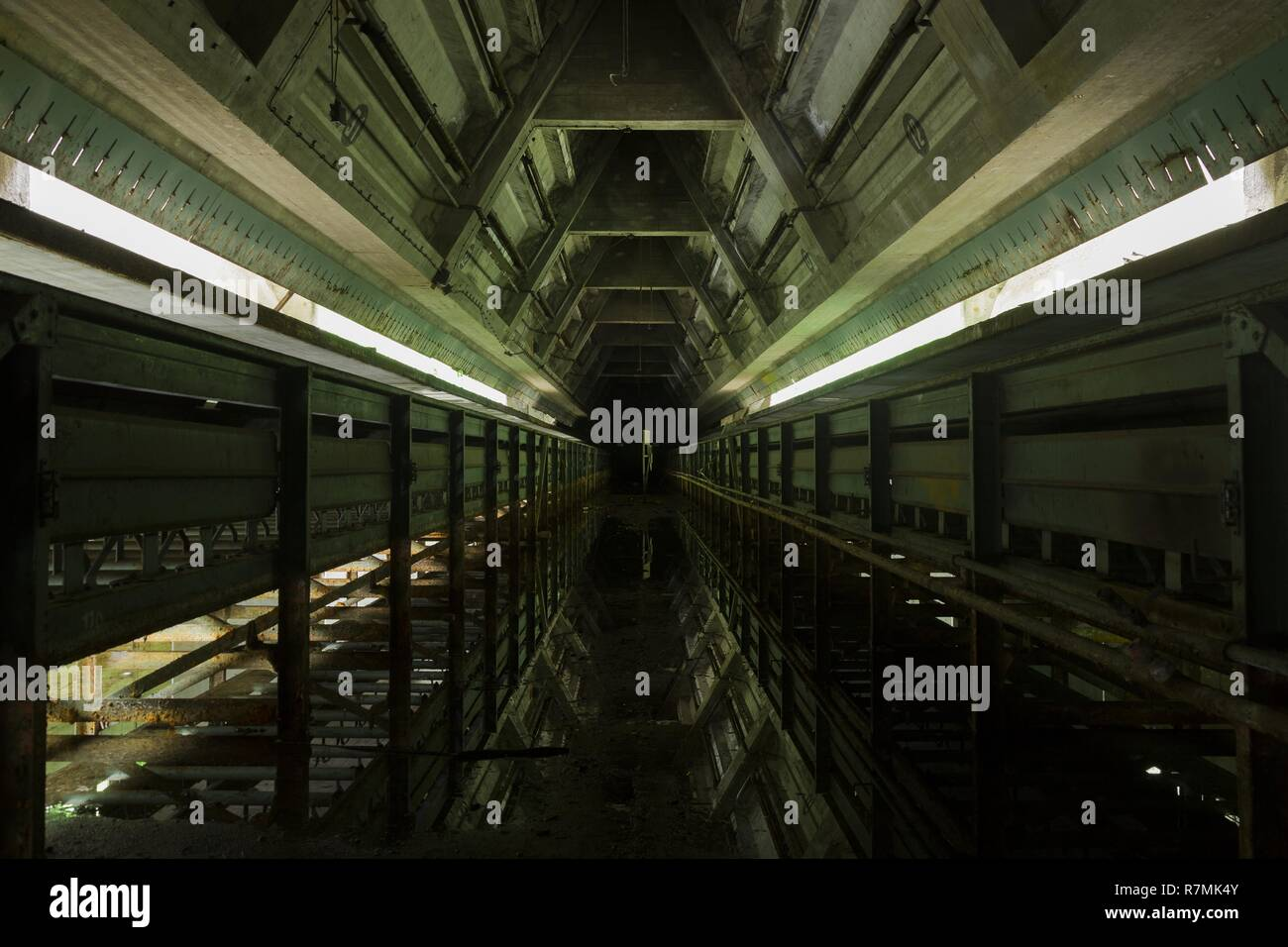 part of an abandoned coal mine, lost places - Stock Image