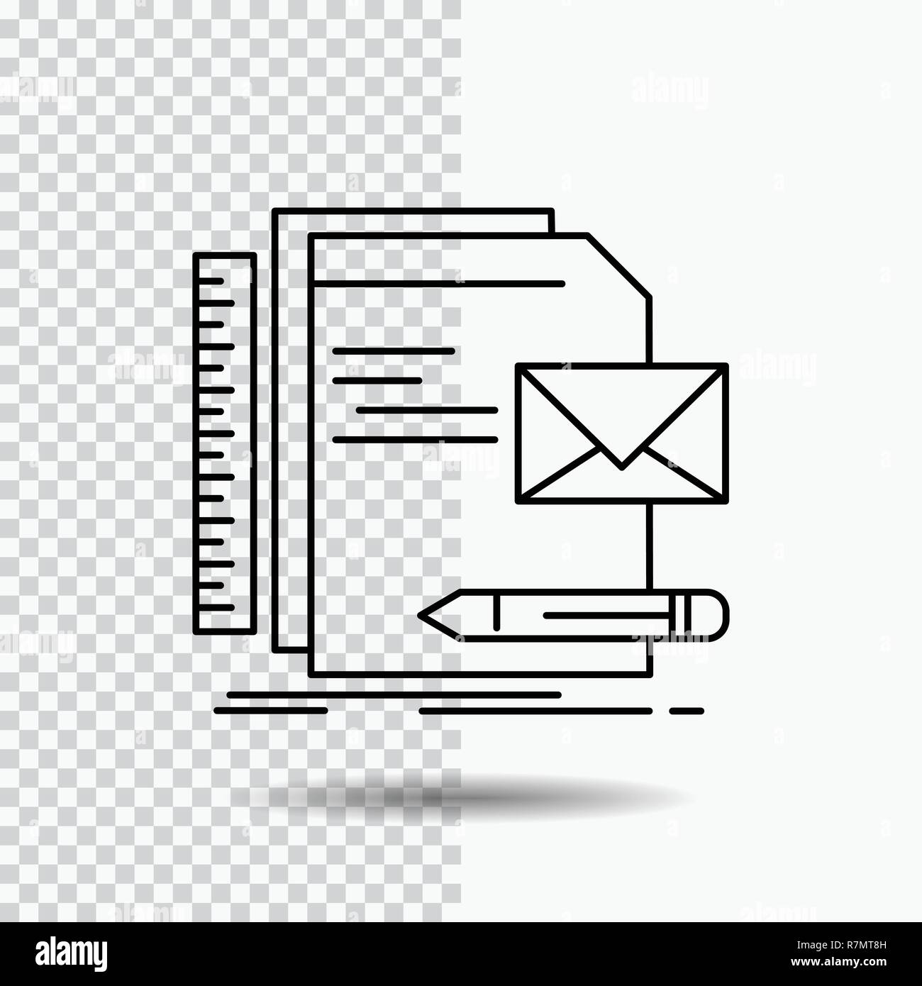 brand company identity letter presentation line icon on transparent background black icon vector illustration stock vector image art alamy alamy