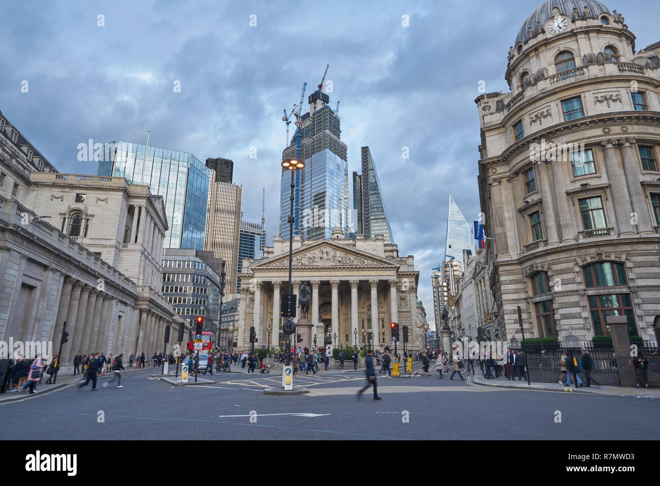 bank junction  city of london - Stock Image