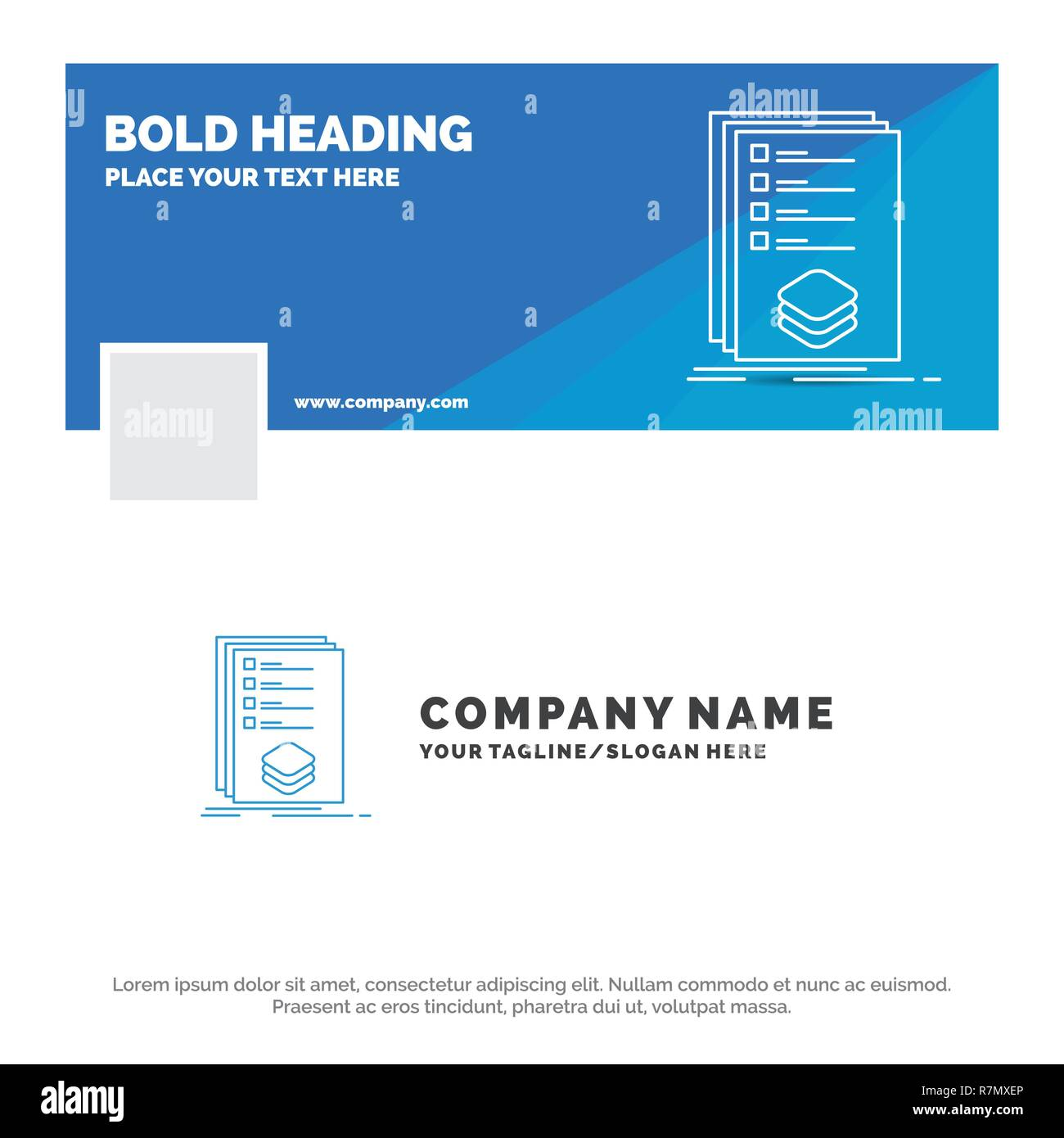 Blue Business Logo Template for Categories, check, list