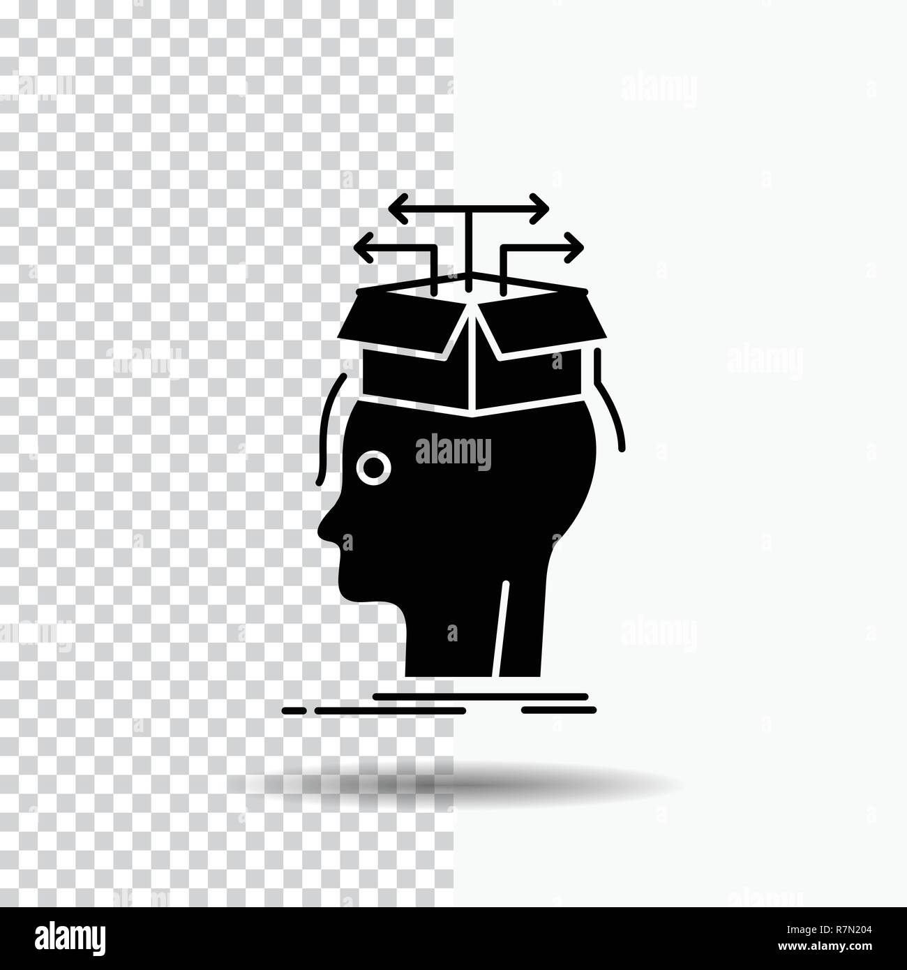 Data Extraction Head Knowledge Sharing Glyph Icon On Transparent Background Black Icon Stock Vector Image Art Alamy