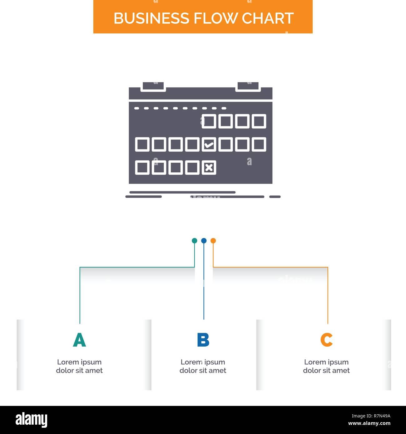 Calendar Date Event Release Schedule Business Flow Chart Design
