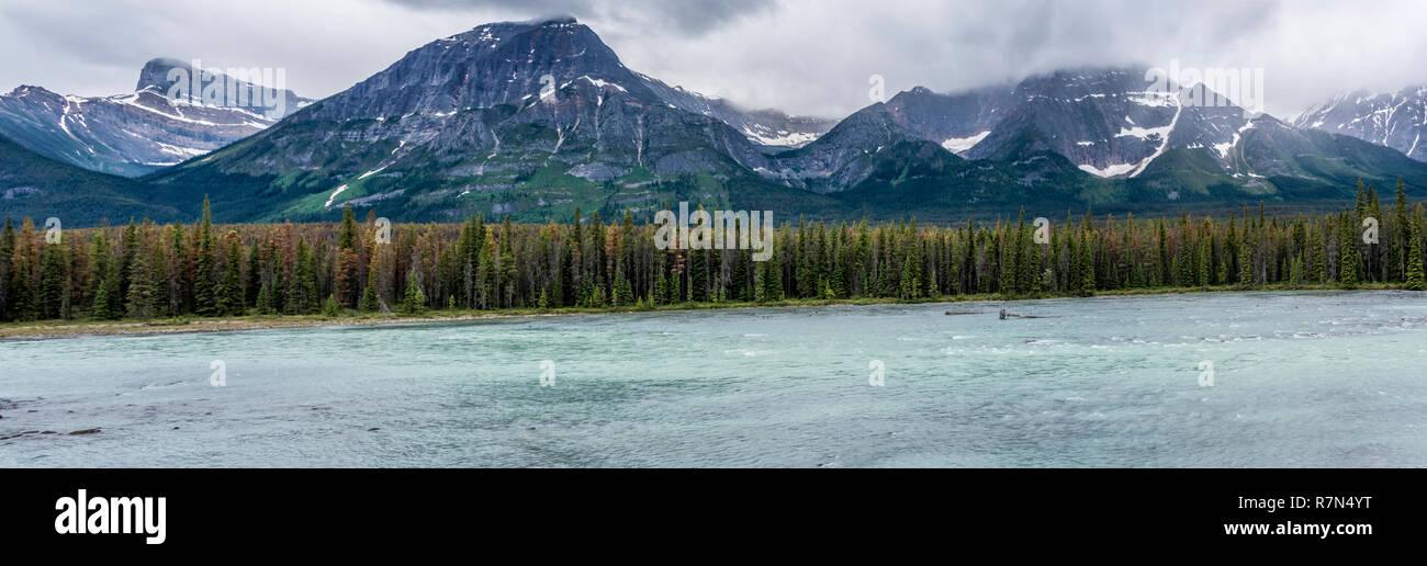 Stormy Jasper Mountains - Stock Image