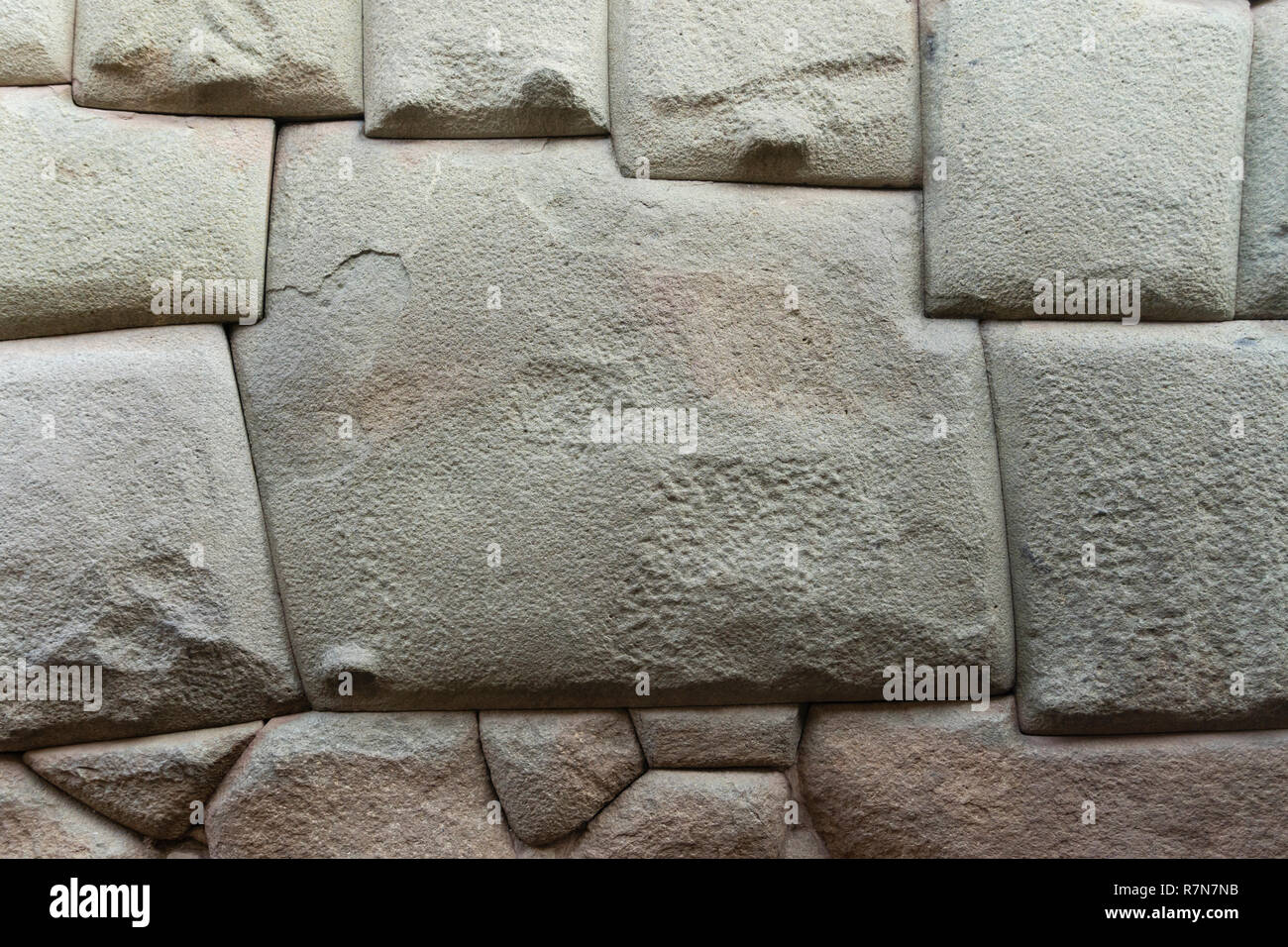 Twelve angled stone in Cusco, Peru - Stock Image
