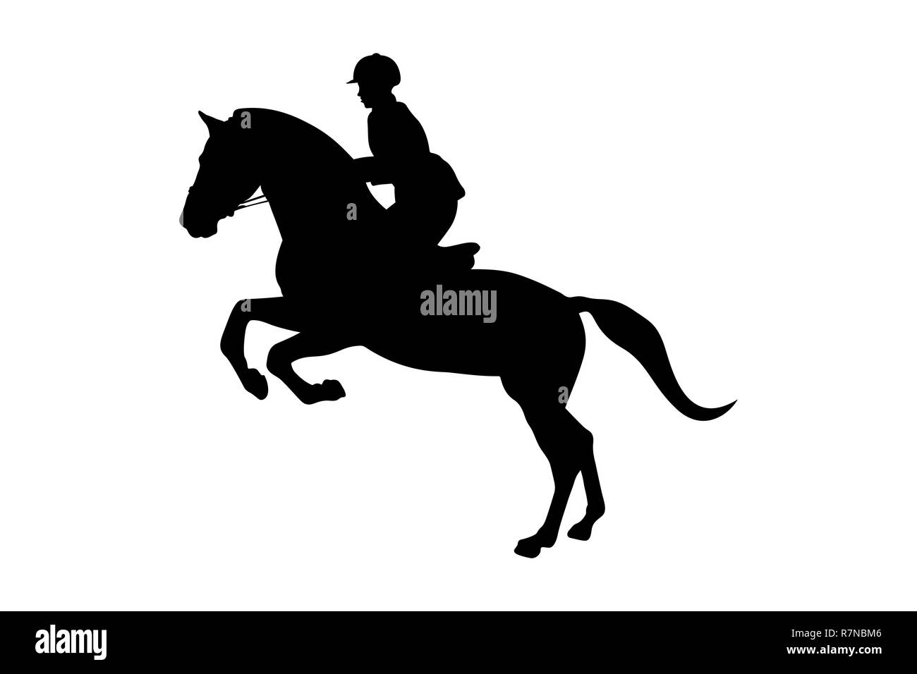 Equestrian Jumping Silhouette High Resolution Stock Photography And Images Alamy
