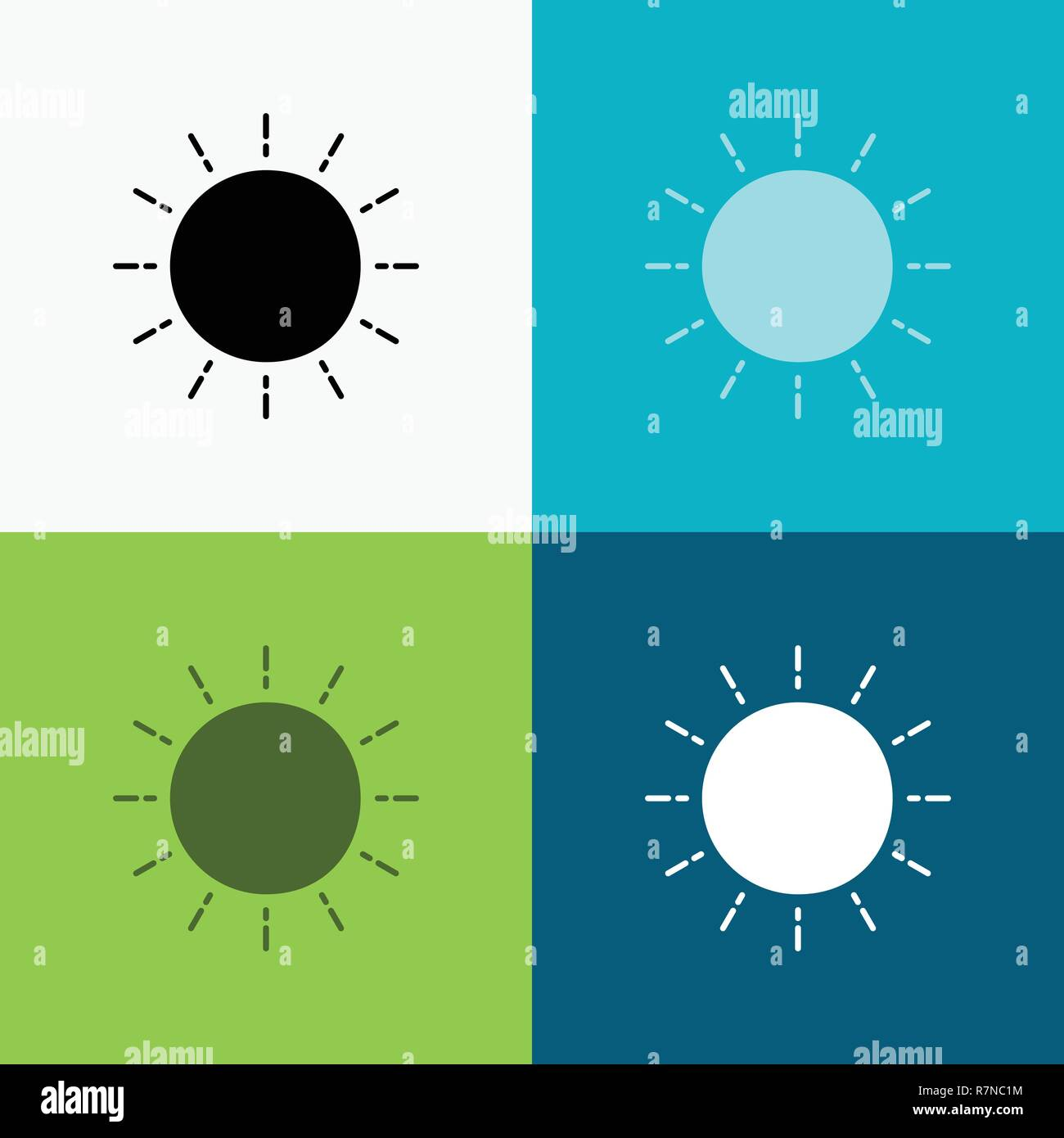 sun, weather, sunset, sunrise, summer Icon Over Various Background. glyph style design, designed for web and app. Eps 10 vector illustration - Stock Vector
