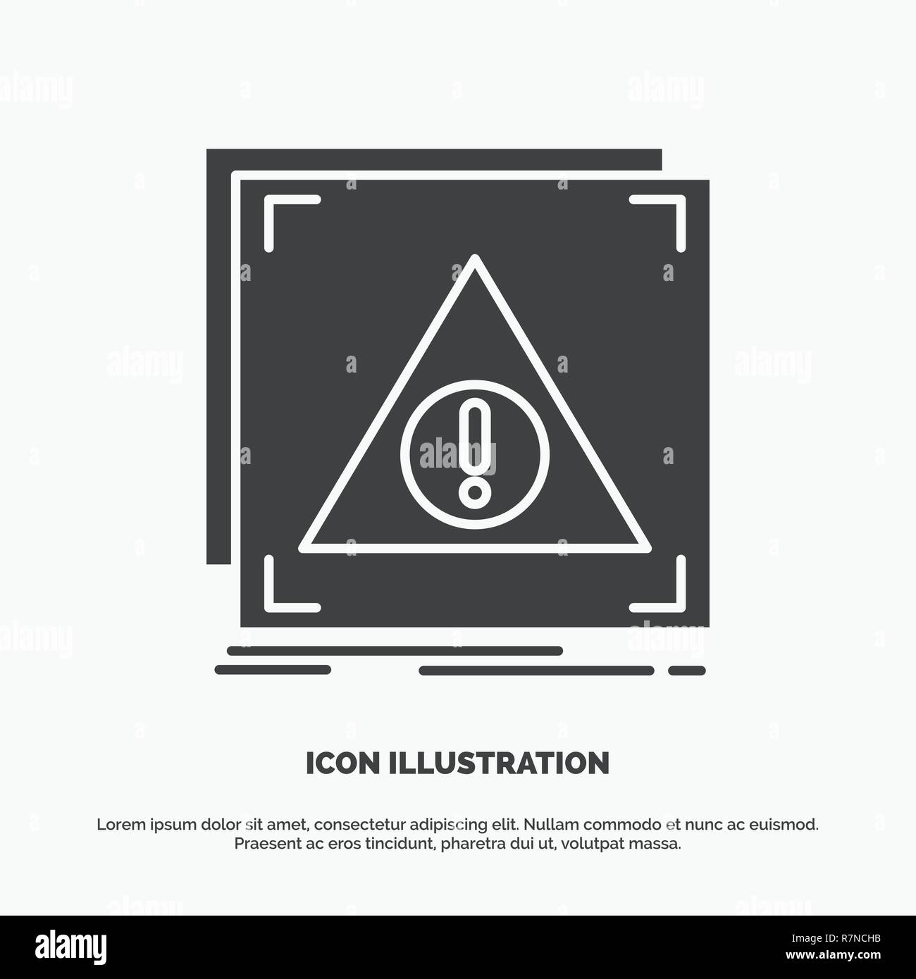 Error, Application, Denied, server, alert Icon. glyph vector gray symbol for UI and UX, website or mobile application - Stock Image