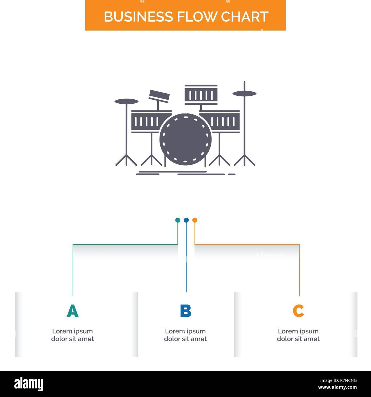 drum, drums, instrument, kit, musical Business Flow Chart Design