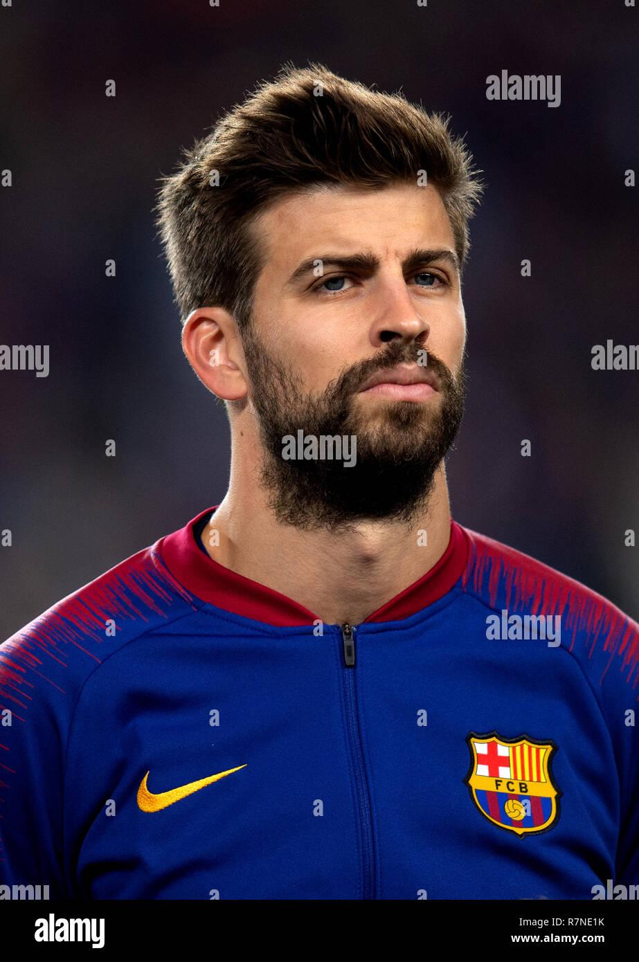 Spain - La Liga Santander 2018-2019 /  ( F.C. Barcelona ) -  Gerard Pique - Stock Image