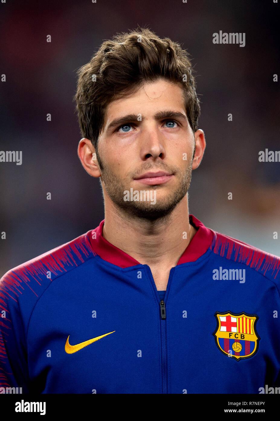 Spain - La Liga Santander 2018-2019 /  ( F.C. Barcelona ) -  Sergi Roberto - Stock Image
