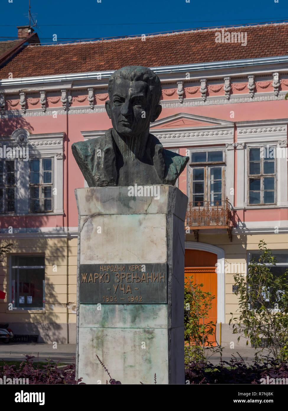 Bust in Ruski Park, Vrsac, Vojvodina, Serbia, Europe - Stock Image
