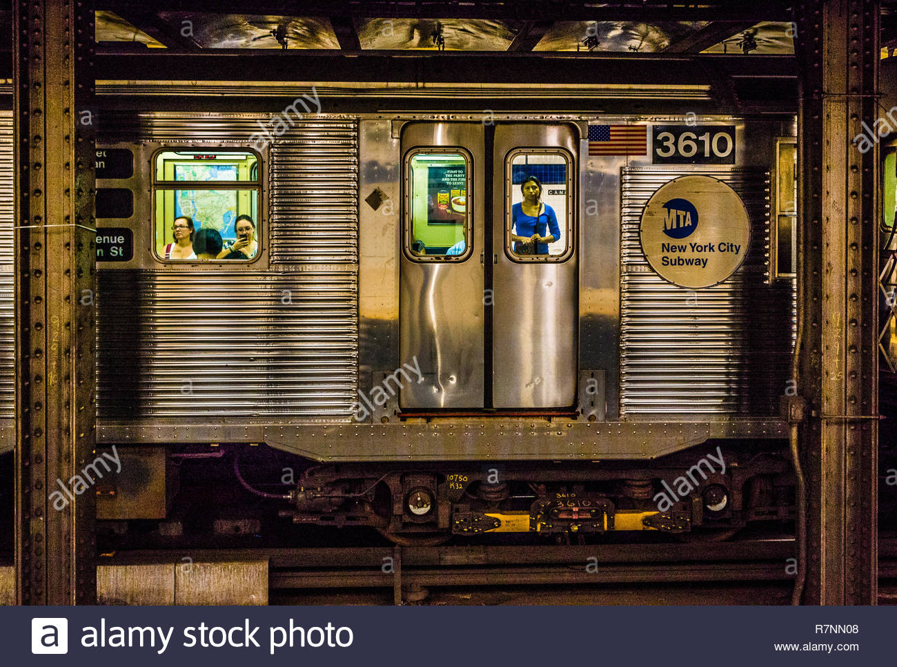 Canal Street (IND Eighth Avenue Line) Subway Station Manhattan _ New York, New York, USA - Stock Image