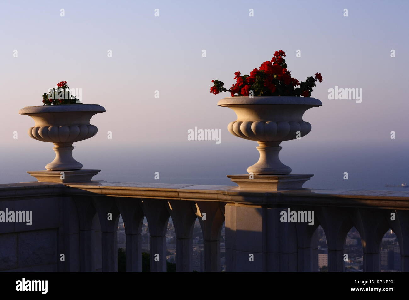 Flowerbeds, Hayfa - Stock Image