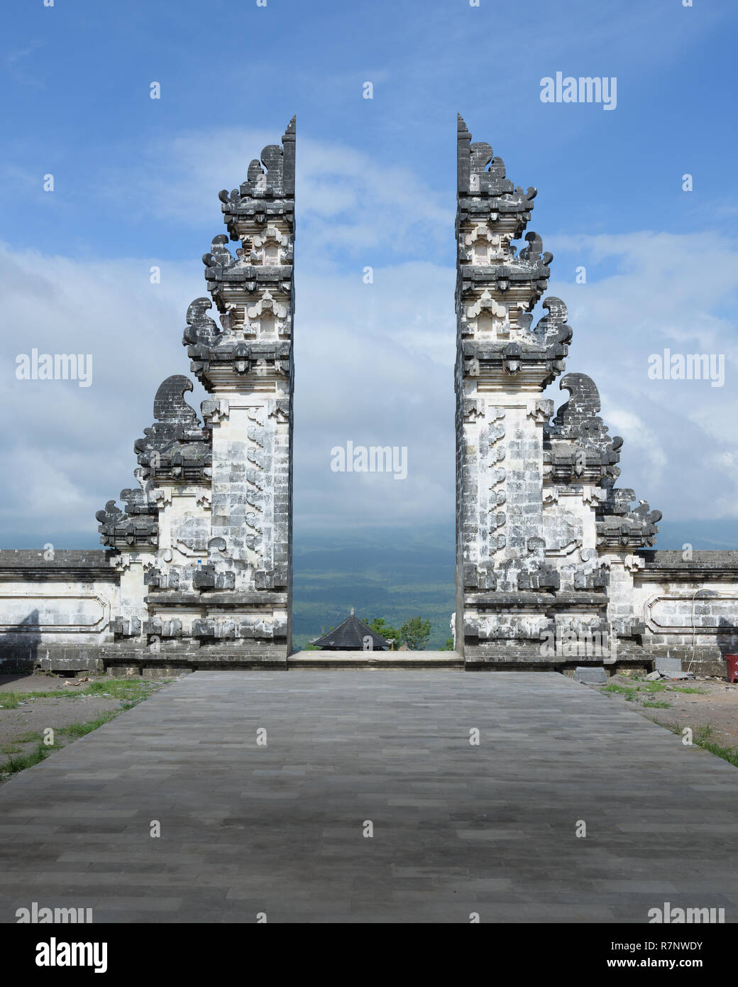 The Split Gate To Heavens In Pura Lempuyang Temple Bali Indonesia