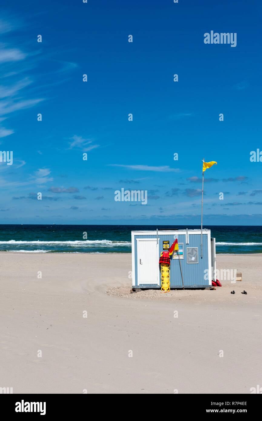 Denmark, Zealand, North Coast Beach - Stock Image