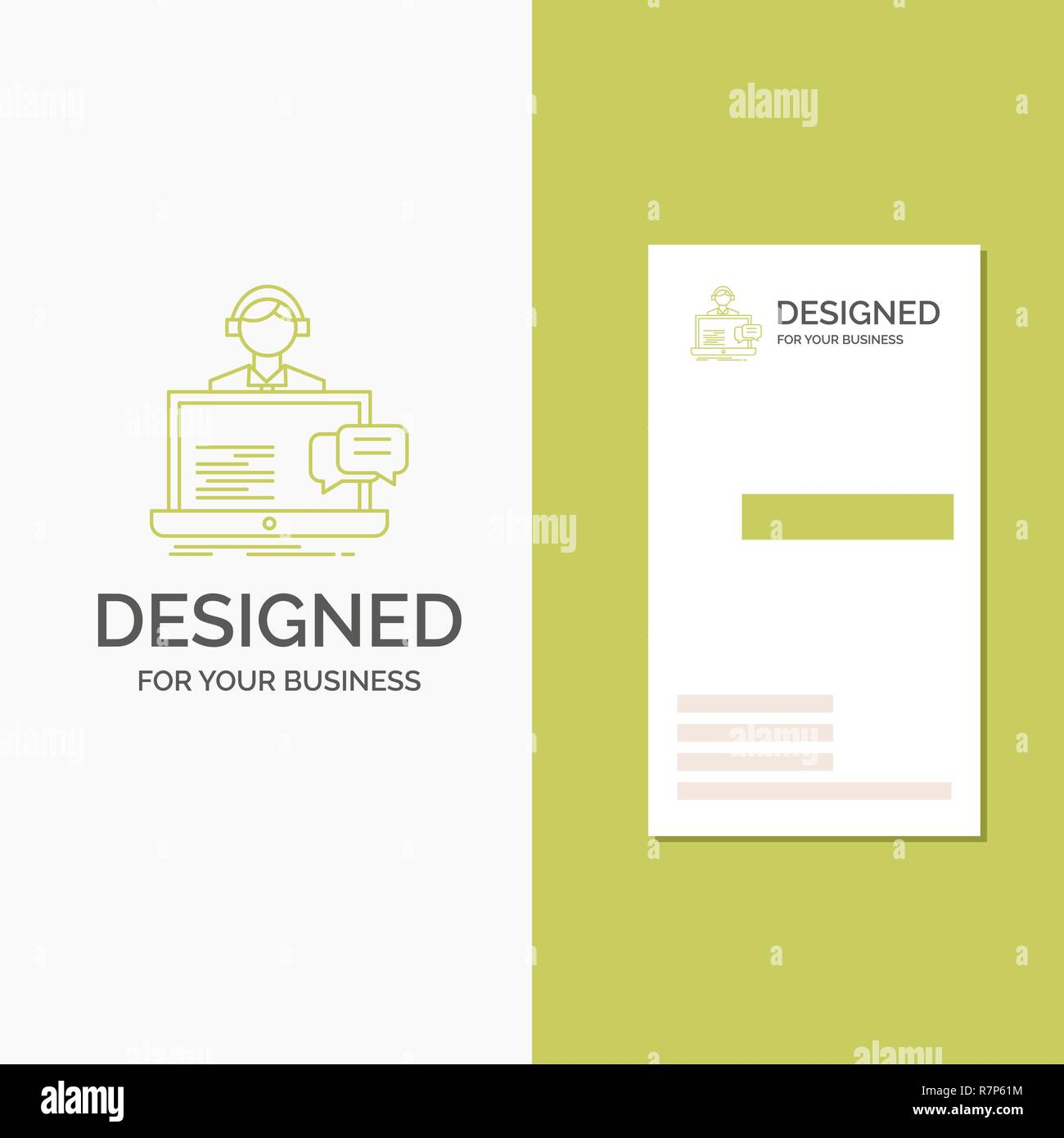 Business Logo for support, chat, customer, service, help. Vertical Pertaining To Customer Information Card Template