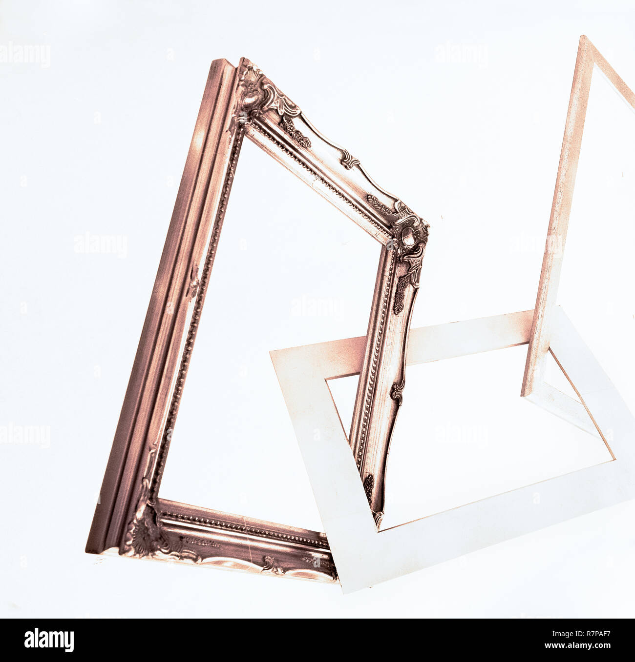 Interlinked picture frames. - Stock Image