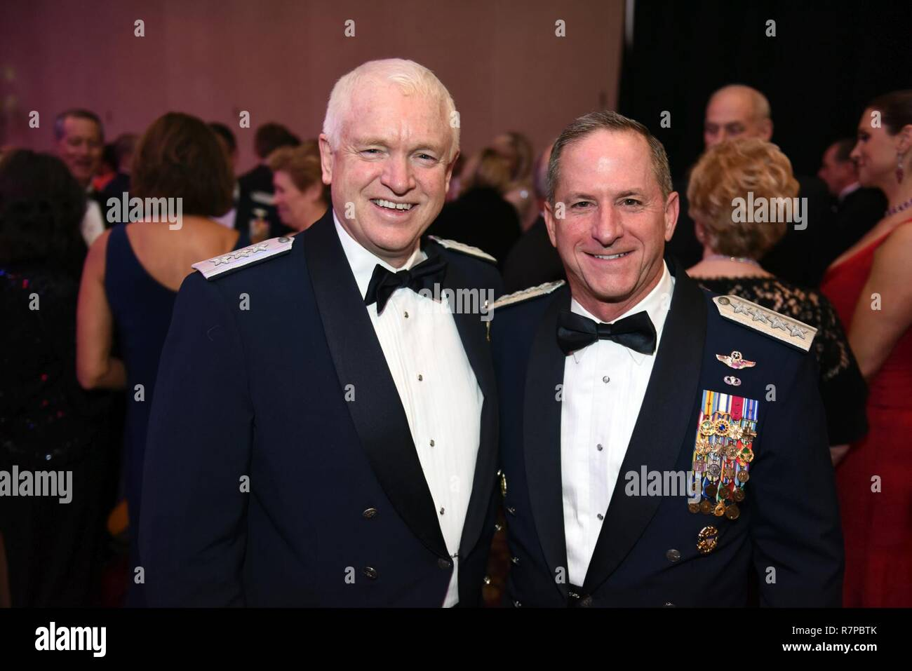 Air Force Gen  David Goldfein, right, chief of staff of the