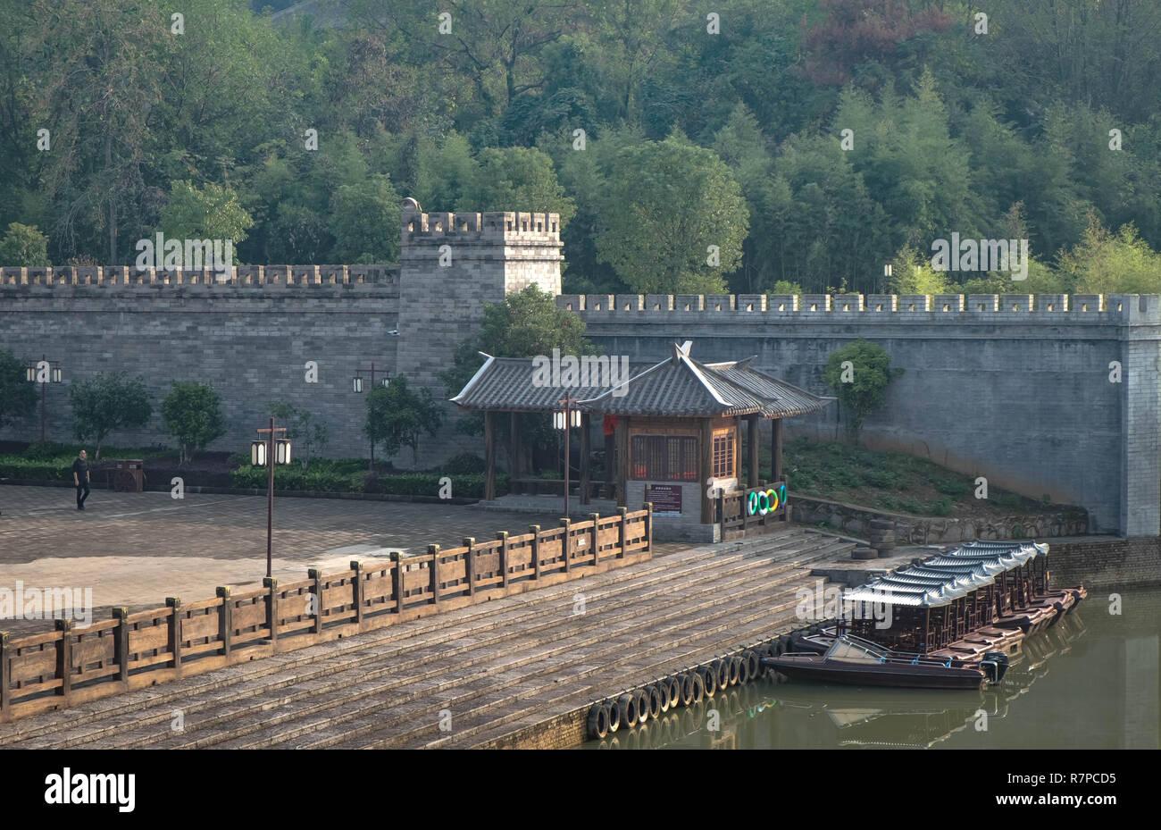 Chibi, Hubei/ CHINA - OCT 25, 2018:The ancient battle field