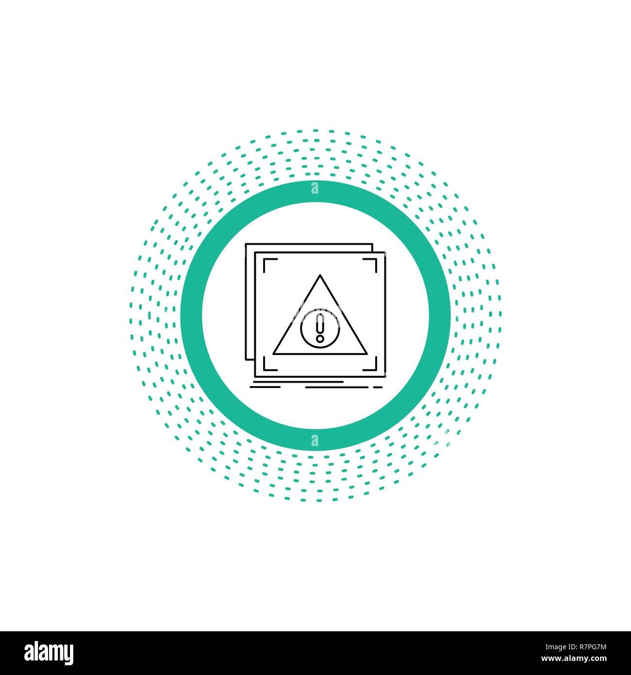 Error, Application, Denied, server, alert Line Icon. Vector isolated illustration - Stock Image