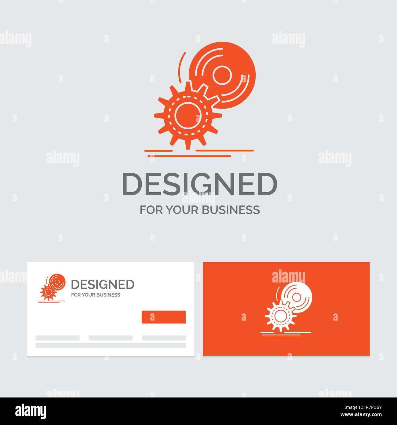 business logo template for cd disc install software dvd orange