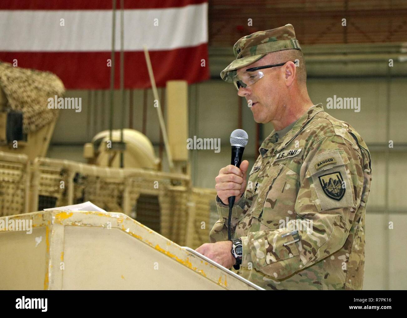 BAGRAM AIRFIELD, Afghanistan (Mar  26, 2017) - U S  Army Maj