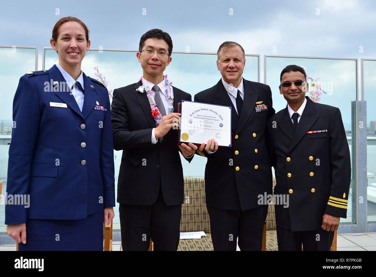 OKINAWA, Japan (March 24, 2017) (Left to right) Maj  Angela