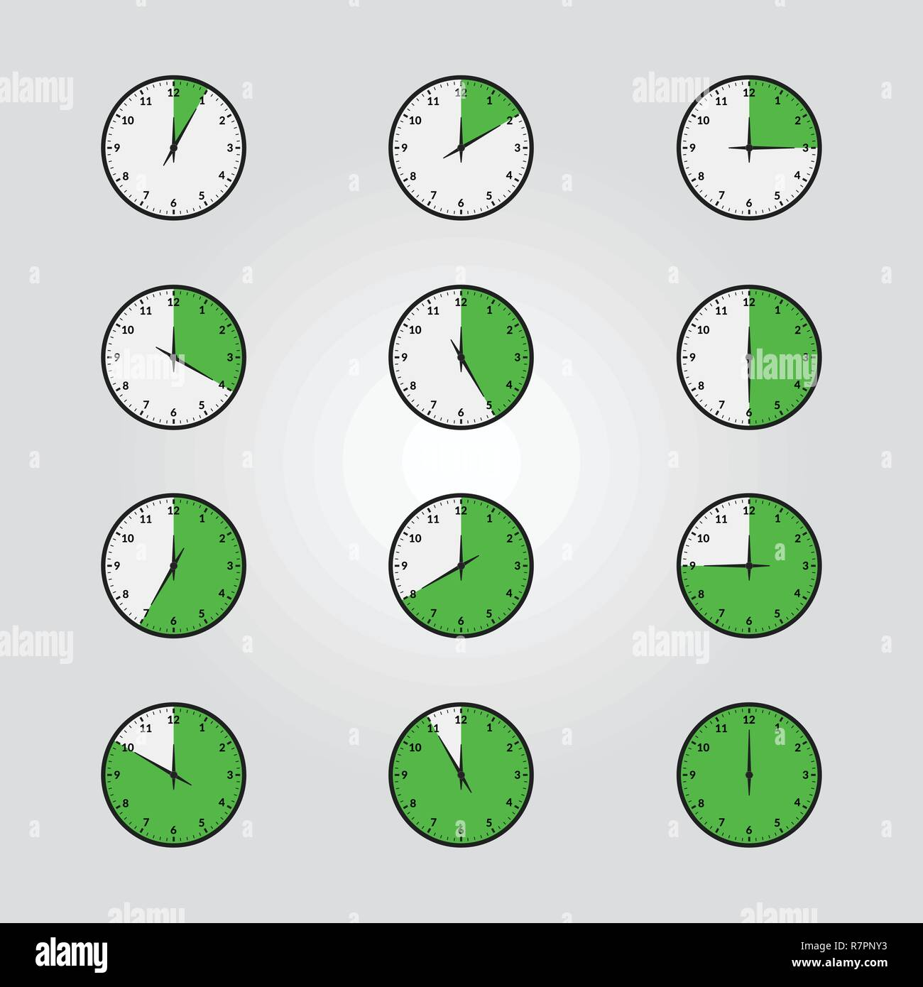 Vector Set of timers or chronometers web and mobile icons - Stock Image