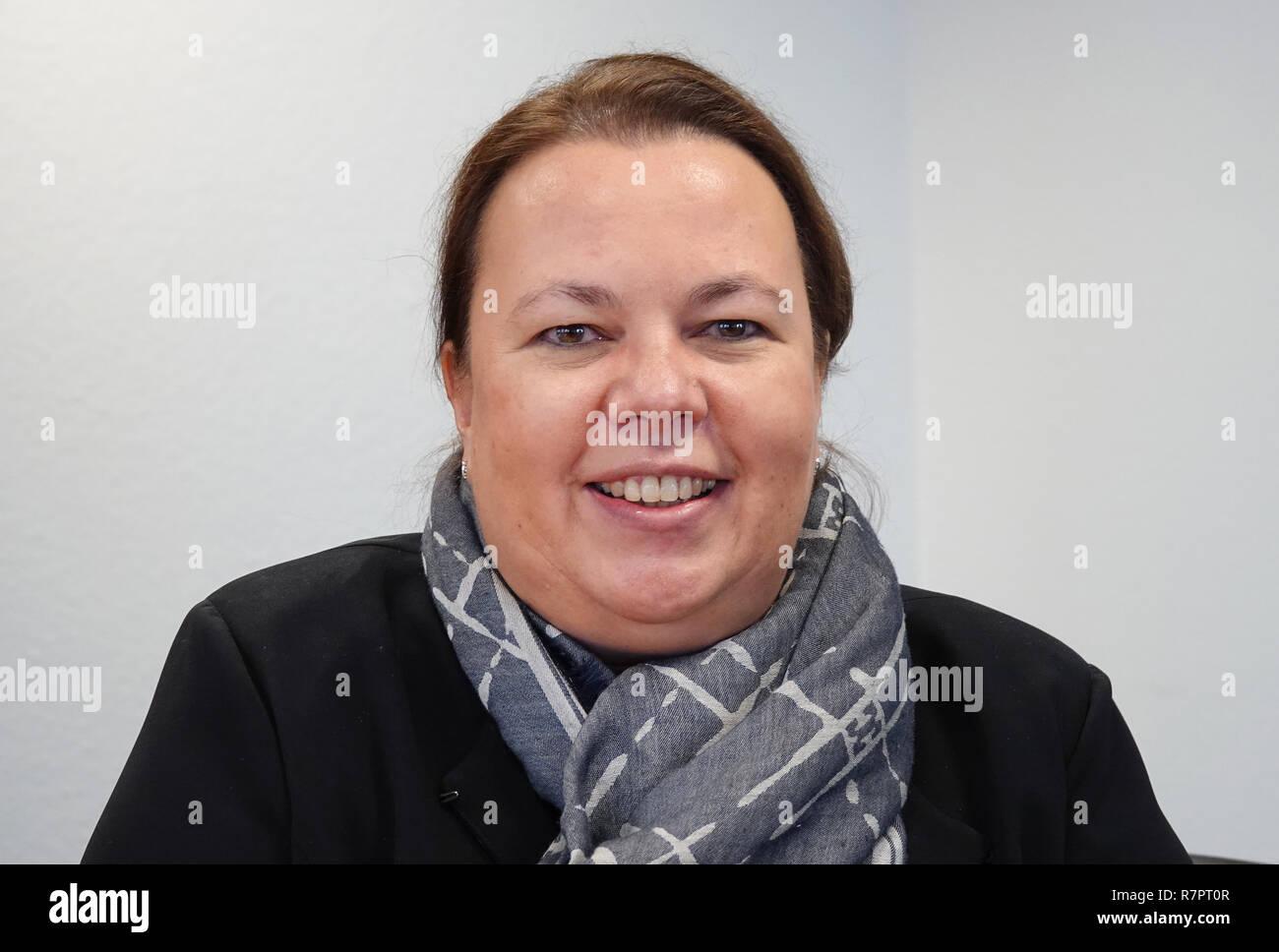 10 December 2018, North Rhine-Westphalia, Düsseldorf: North Rhine-Westphalia's Environment Minister Ursula Heinen-Esser (CDU) at a dpa interview. Photo: David Schwarz/dpa - Stock Image