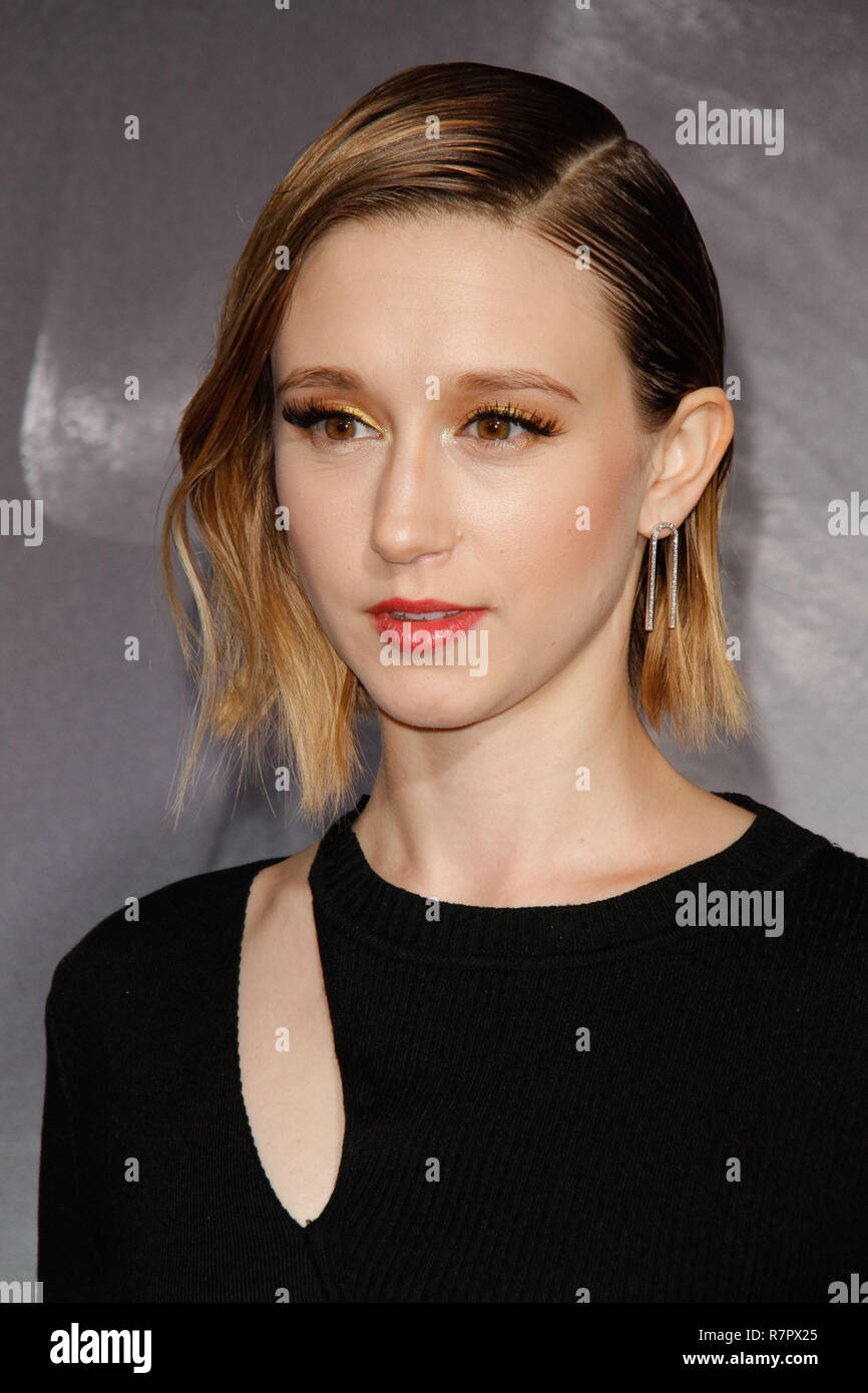 Westwood, California, USA. 10th Dec 2018. Taissa Farmiga at the World Premiere of Warner Bros' 'The Mule' held at the Regency Village Theatre in Westwood, CA, December 10, 2018. Photo by Joseph Martinez / PictureLux Credit: PictureLux / The Hollywood Archive/Alamy Live News - Stock Image