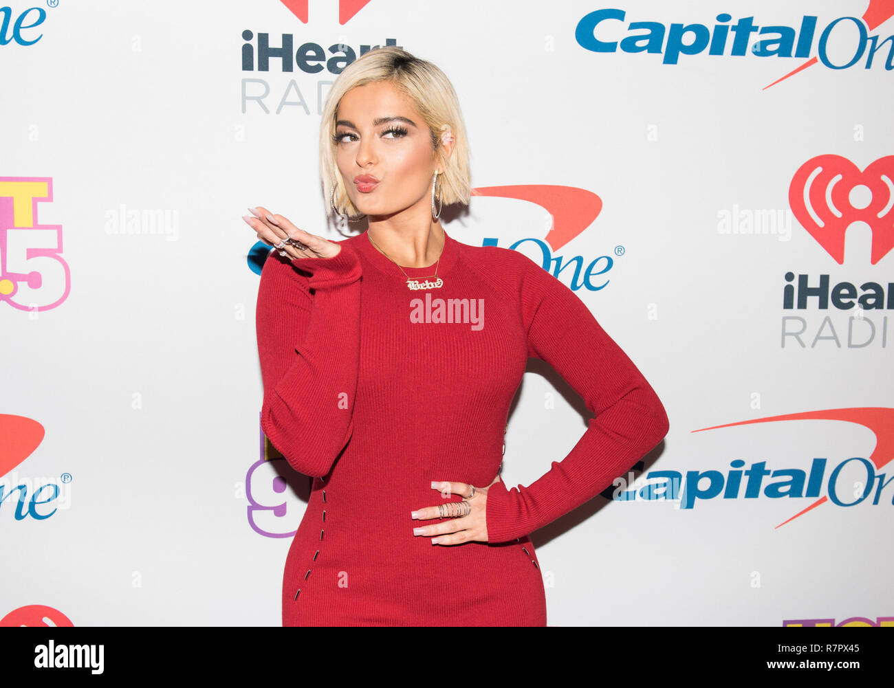 Washington DC, USA. 10th Dec 2018. Bebe Rexha arrives at Hot 99.5's iHeartRadio Jingle Ball 2018 at Capital One Arena on December 10, 2018 in Washington, DC. Photo: Lisa Walker for imageSPACE/MediaPunch Credit: MediaPunch Inc/Alamy Live News Stock Photo
