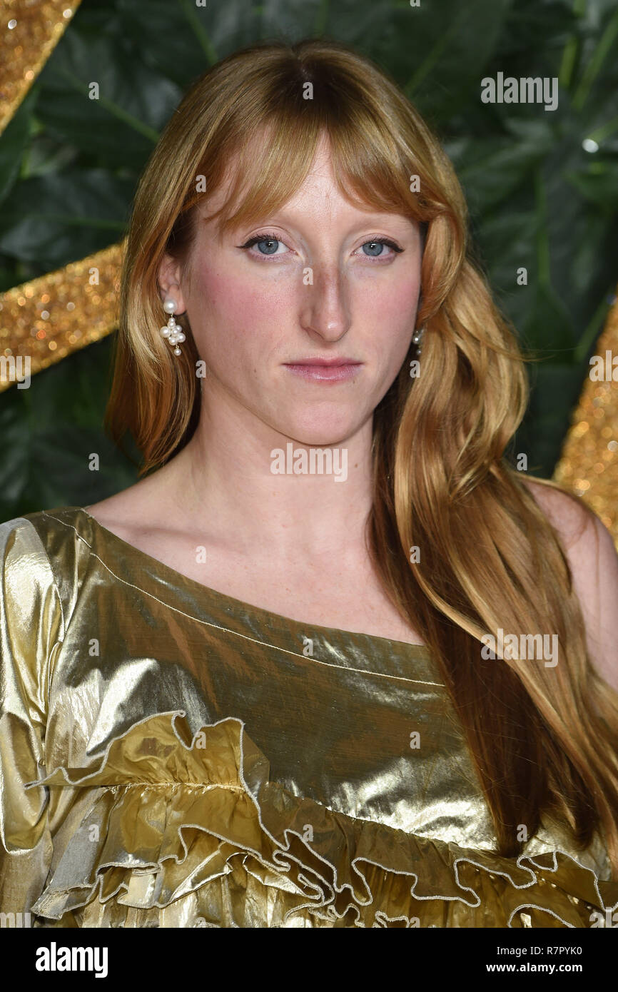 London, UK. 10th Dec 2018. Molly Goddard at The Fashion Awards 2018 at the Royal Albert Hall, London. Picture: Steve Vas/Featureflash Credit: Paul Smith/Alamy Live News - Stock Image
