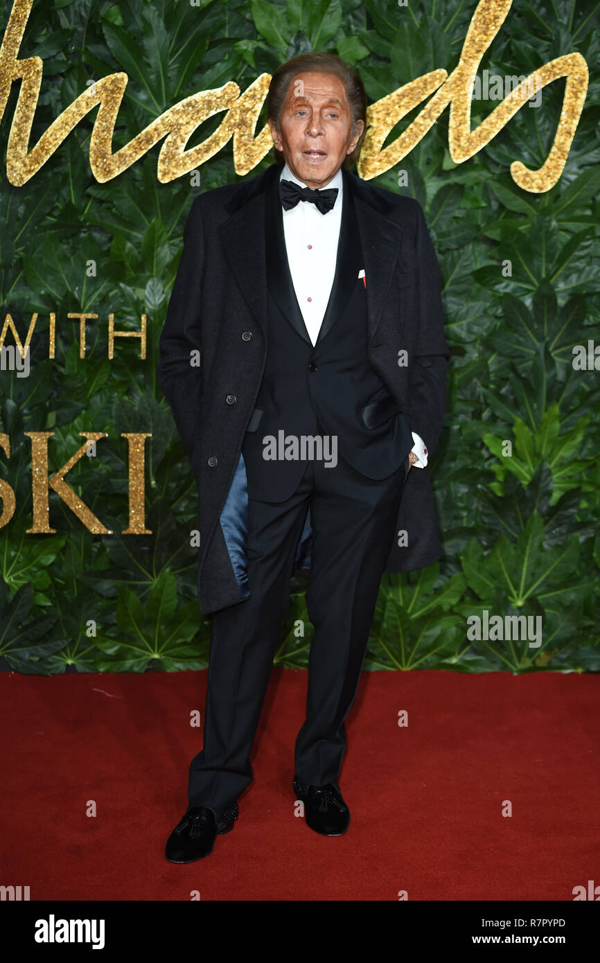 London, UK. 10th Dec 2018. Valentino at The Fashion Awards 2018 at the Royal Albert Hall, London. Picture: Steve Vas/Featureflash Credit: Paul Smith/Alamy Live News - Stock Image