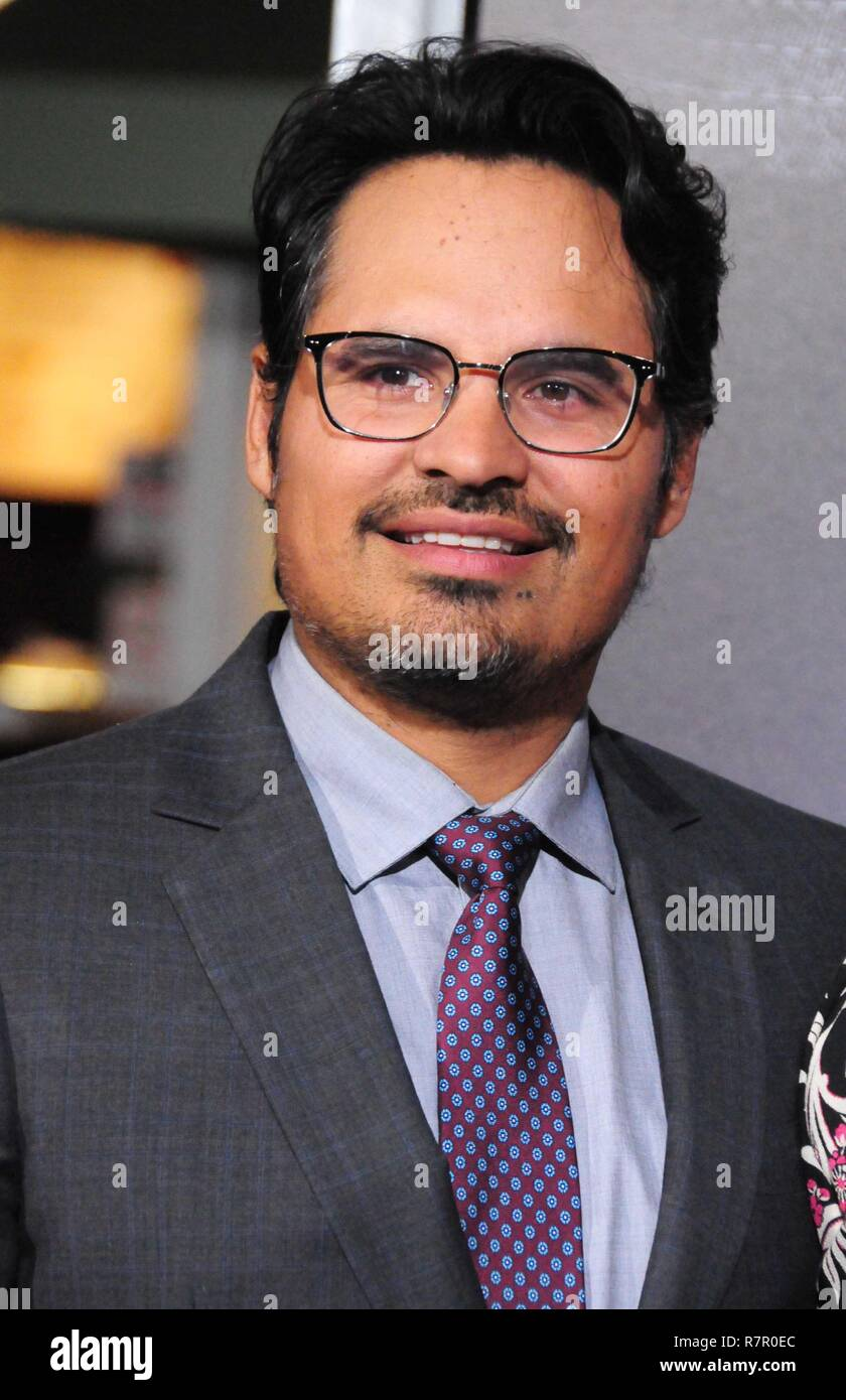 Westwood, California, USA. 10th Dec 2018. WESTWOOD, CA - DECEMBER 10: Actor Michael Pena attends the World Premiere of Warner Bros. Pictures' 'The Mule' on December 10, 2018 at Regency Village Theatre in Westwood, California. Photo by Barry King/Alamy Live News Stock Photo