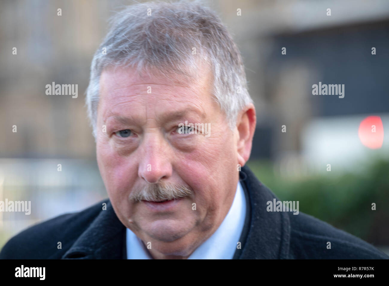 London, UK. 11th December 2018 Brexit High drama at Westminster Samuel Wilson is a politician from Northern Ireland who is a Democratic Unionist Party Member of Parliament for East Antrim , he comments of Brexit,  Credit Ian Davidson/Alamy Live News - Stock Image