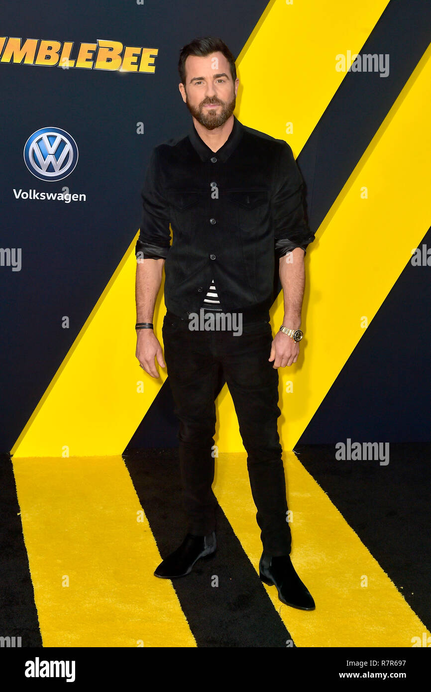 Justin Theroux at the world premiere of the movie 'Bumblebee' at the TCL Chinese Theater. Los Angeles, 09.12.2018 | usage worldwide - Stock Image