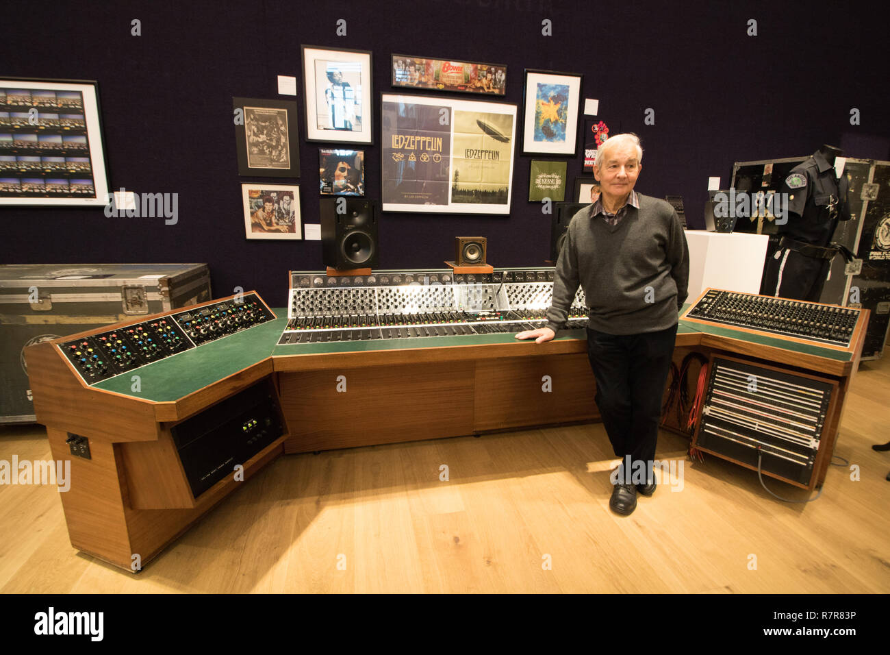 London UK. 11th December 2018. Unique Helios Centric Console used By Rock Music Legends, Led Zeppelin, Bob Marley, David Bowie, Eric Clapton, George Harrison, Rolling Stones, Paul Weller, Jimi Hendrix and other celebrity users. Credit: amer ghazzal/Alamy Live News - Stock Image